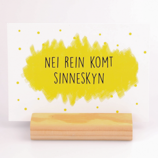 Kaart Nei rein komt sinneskyn - Krúskes.nl