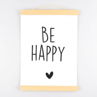 Poster Be Happy - Krúskes.nl (2)