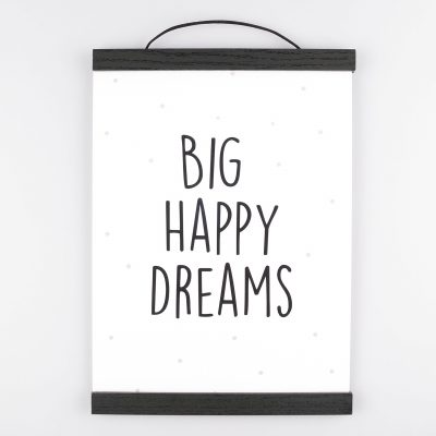 Poster Big Happy Dreams - Krúskes.nl