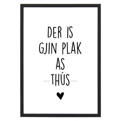Poster Gjin Plak as Thus- A4 - Krúskes.nl