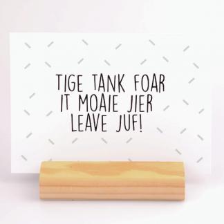 Kaart Tige Tank Juf - Krúskes.nl