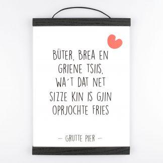 Poster Bûter Brea En Griene Tsiis - Krúskes.nl