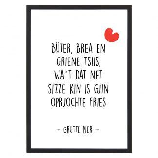 Poster Buter Brea en Griene Tsiis- A4 - Krúskes.nl