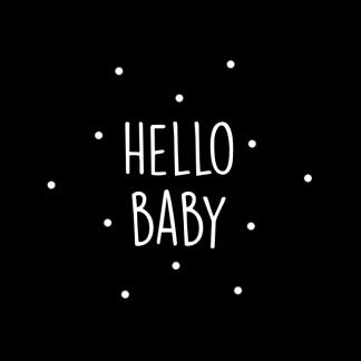 sticker hello baby
