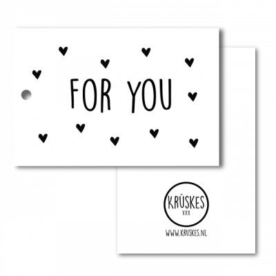 Cadeaulabel For You