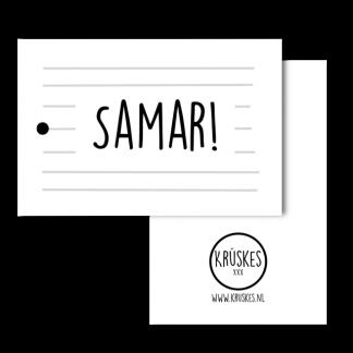 cadeaulabel Samar