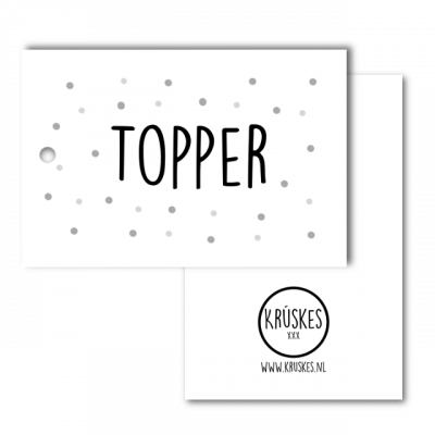 cadeaulabel topper