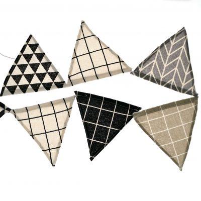Driehoek slinger - Zwart wit - 2.80m - Krúskes.nl