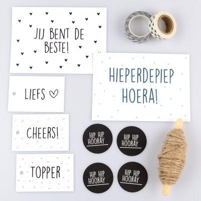 Inpakset Hip Hip Hooray - Krúskes.nl