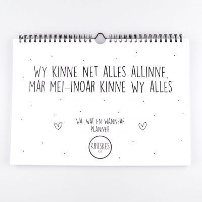 Wa, Wat en Wannear Planner - Friese Familieplanner - Krúskes.nl