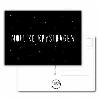 Kerstkaart Noflike Krystdagen - Krúskes