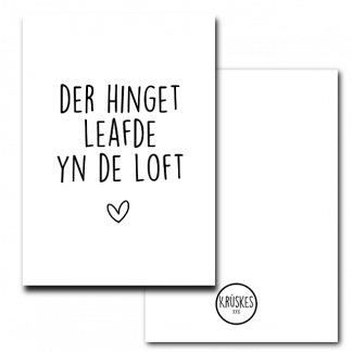 Poster Der Hinget Leafde Yn de Loft Krúskes