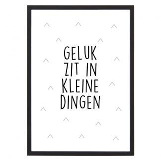 Poster Geluk zit in de kleine dingen - A4 - Krúskes.nl