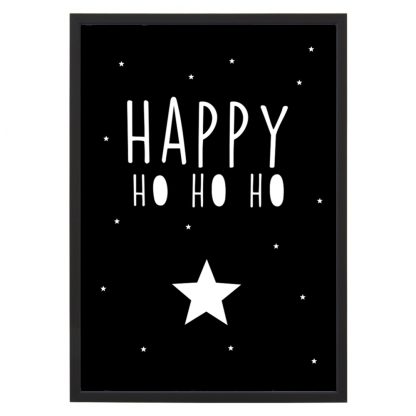 Poster Happy Ho Ho Ho - A4 - Krúskes.nl