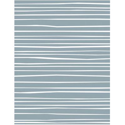 cadeauzakje grijsblauw met witte strepen 2 - Krúskes.nl