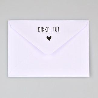 Achterkant Envelop Dikke Tút - Krúskes.nl