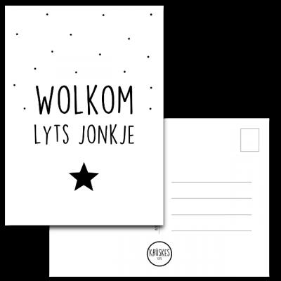 Kaart Wolkom Lyts Jonkje - Krúskes