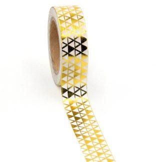 Masking Tape Driehoekjes - Goudwit 10meter