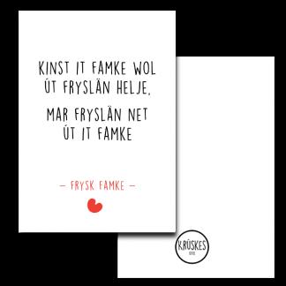 Poster Frysk Famke - Krúskes