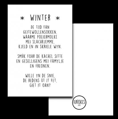 Poster Winter - Krúskes