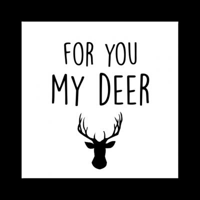 Sticker For You My Deer - Krúskes