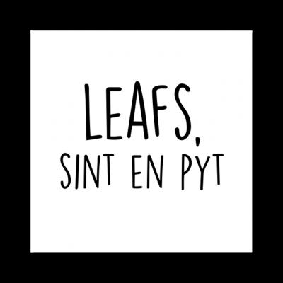 Sticker Leafs, Sint en Pyt - Krúskes