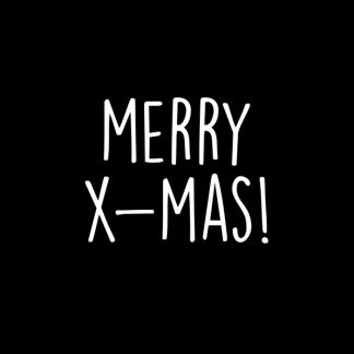 Sticker Merry X-Mas - Krúskes