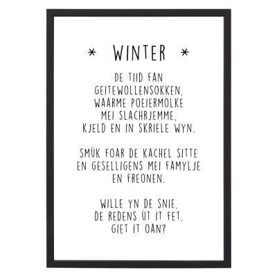 poster met lijst Winter