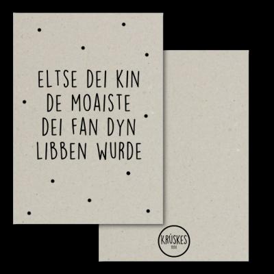 Grijskaart Eltse Dei Kin De Moaiste Dei Wurde - Krúskes