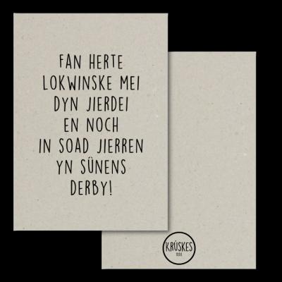 Bestel vandaag jouw Kaart Grijsboard Eltse Dei Kin De Moaiste Dei Wurde - A5 bij Krúskes en je hebt hem morgen in huis! | Krúskes, jouw adres voor de leukste kaarten!