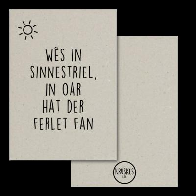 Grijskaart Wês in Sinnestriel - Krúskes