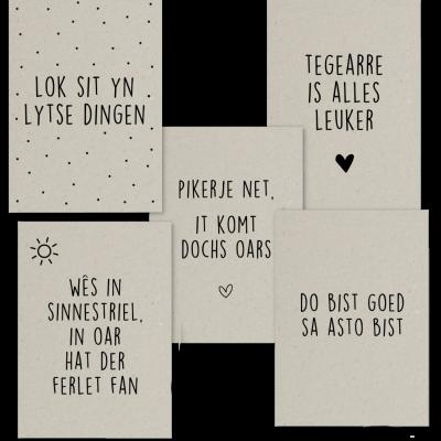 Kaartenset 1 Grijsboard Quotes - kaarten - Kruskes