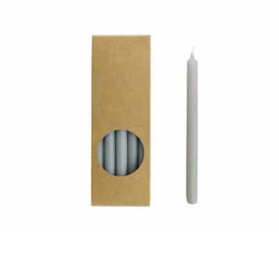 Potloodkaarsen - Koel Grijs - 10 stuks - 17,5 cm