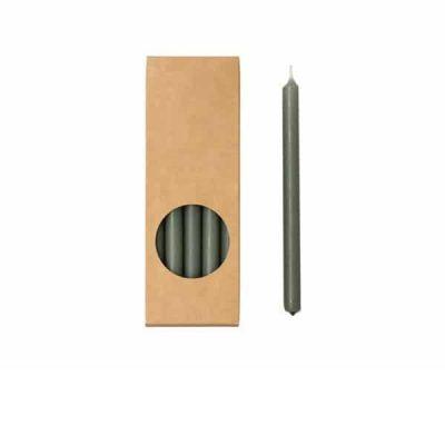 Potloodkaarsen - Stone - 10 stuks - 17,5 cm