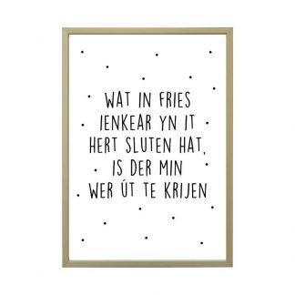 Aluminium posterlijst met friese poster - mat brons - A4 - Krúskes.nl