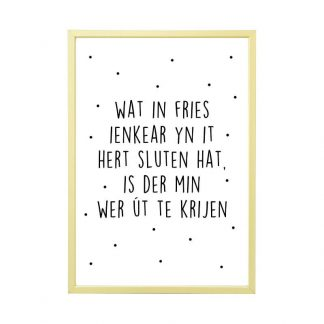 Aluminium-posterlijst-met-friese-poster-mat-champagne-A4-Krúskes.nl_