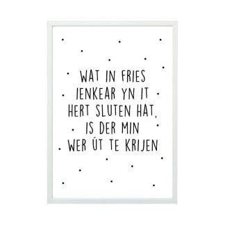 Aluminium posterlijst met friese poster - mat zilver - A4 - Krúskes.nl