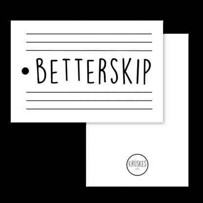 Cadeaulabel Betterskip
