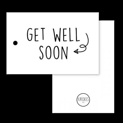 Cadeaulabel Get well soon
