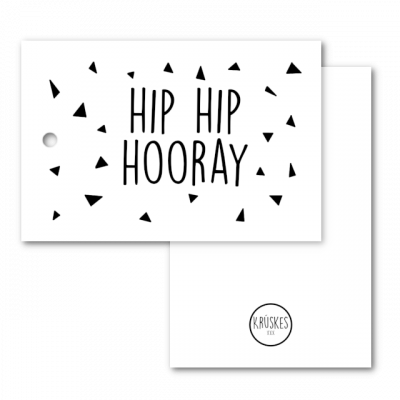 Cadeaulabel Hip hip hooray