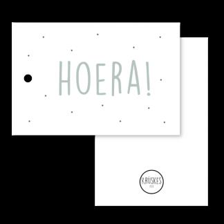 Cadeaulabel Hoera