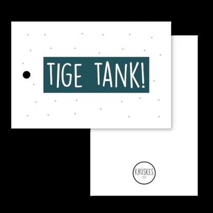 Cadeaulabel Tige tank