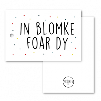 Cadeaulabel in blomke