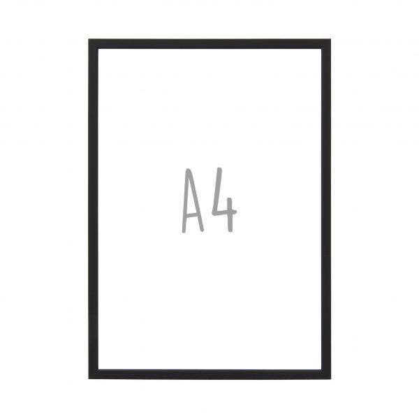 Posterlijst A4 - Mat zwart - Krúskes.nl
