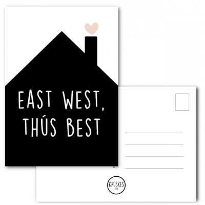 Kaart East West Thus Best - Kruskes