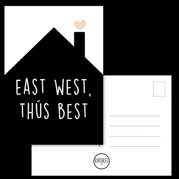 Kaart East West Thus Best - Kruskes