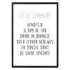 Poster It is Simmer met lijst - Krúskes