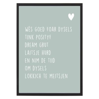 Poster Posityf met lijst - Krúskes