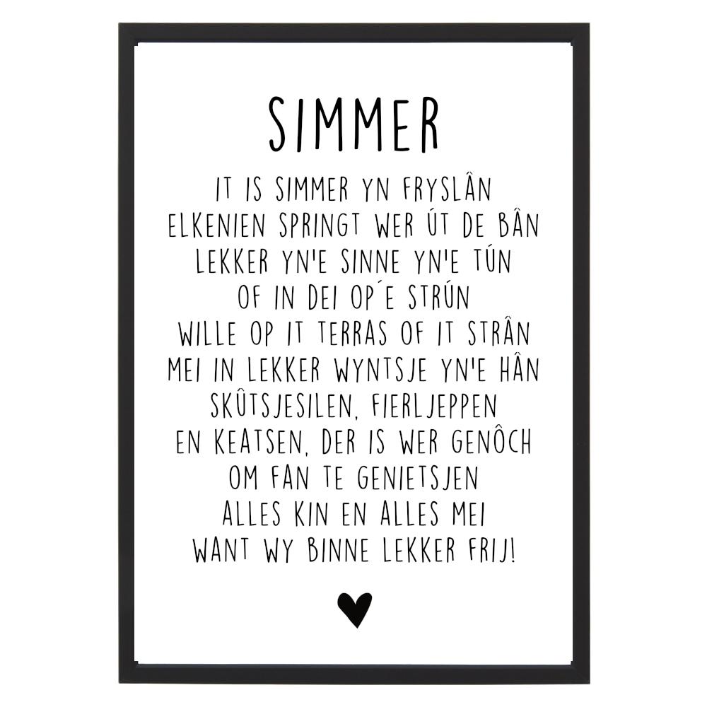 Poster Simmer met lijst - Krúskes