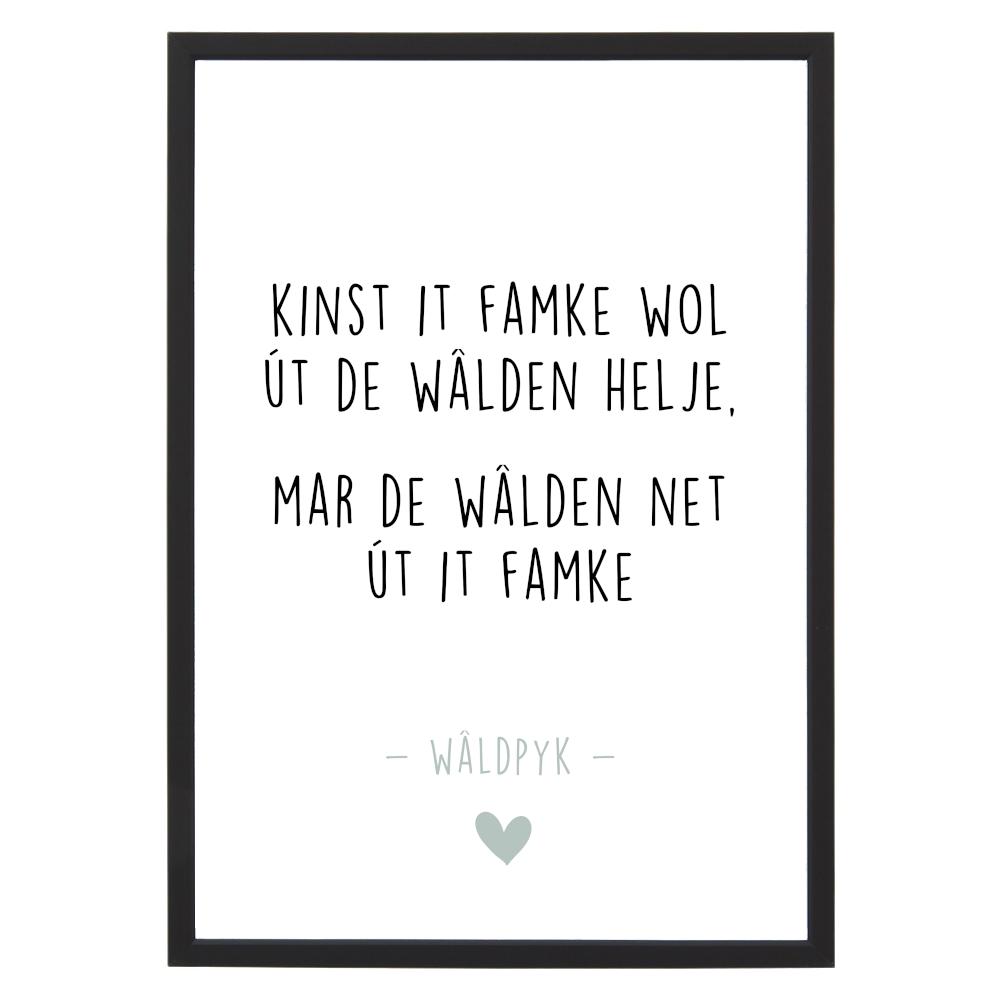 Poster Wâldpyk in lijst - Krúskes